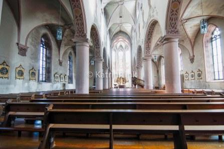 Denkmaltopographie: Innenaufnahme Stadtpfarrkirche St. Georg in Bischofsheim/Rhön (© K. Link)